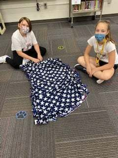 Webster students donate blankets